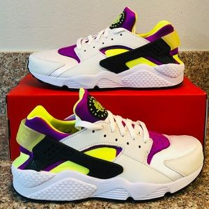 NEW Nike Air Huarache '91 OG White Purple Neon